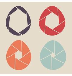 Shutter eggs icon set vector