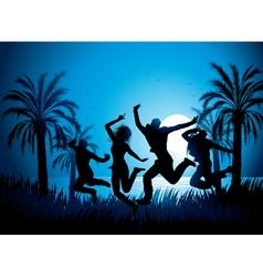Tropical beach dancers vector