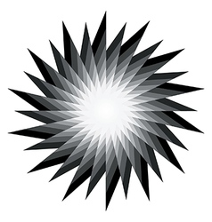 Spiral radiating sun burst vector