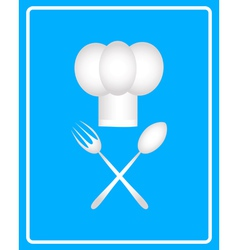 Spoon fork and toque vector