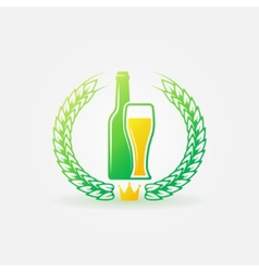 Best beer bright logo or label vector