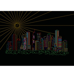 Stylized skyscrapers vector