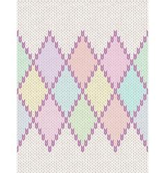 Knit woolen baby ornament texture vector