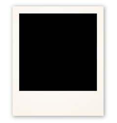 Polaroid frame for your object vector