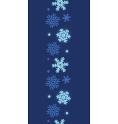 Glitter snowflakes dark vertical border seamless vector