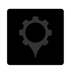 Gps settings icon vector