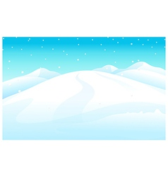 Snowcapped mountain vector
