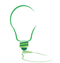 Eco bulb in green color vector