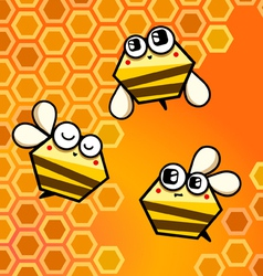 Bee happy vector