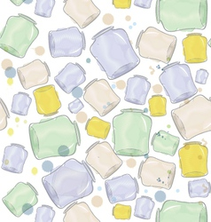 Water color jars seamless vector