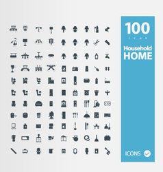 Home  household icon set vector
