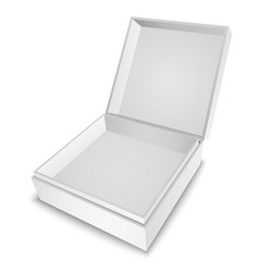 Gift box white vector