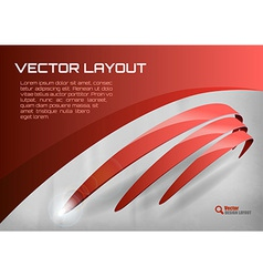 Stripes red vector