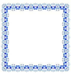 Lacy pattern of blue flowers vector