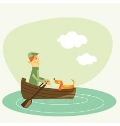 Rowboat vector