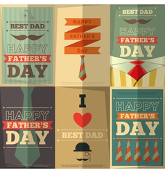 Fathers day posters vector