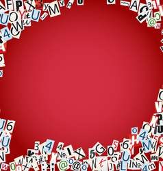 Letters and numbers border vector