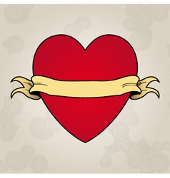 Heart tattoo place to insert your text vector