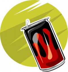 Tin drinks vector