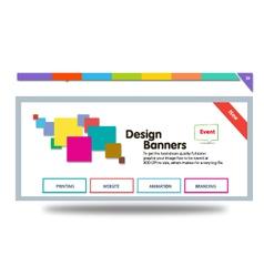 Colour banner vector