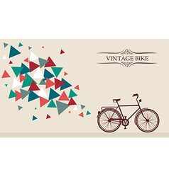 Retro hipster bicycle with geometric elements vector
