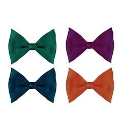 Realistic tie bows vector