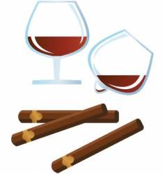 Rum cigar vector