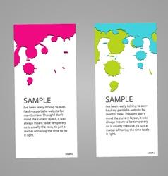Design banner concept paint colorful vector