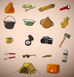 Set of twenty things travel vector