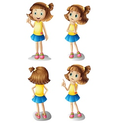 Different moods of a young girl vector