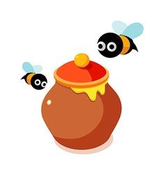 Icon honey vector