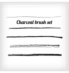Hand drawn charcoal brush set scalable grunge vector