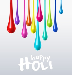 Dripping colors on holi festival vector