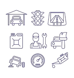 Car service maintenance icon auto repair vector