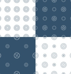 Set of seamless gear patterns vector