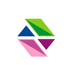 Business shape colorful technology logo vector