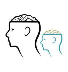 Head and brain vector