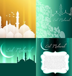 Attractive set of eid festival background vector
