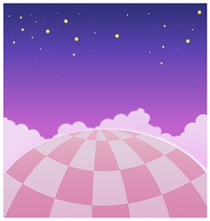 Close-up of hot air balloon in sky vector