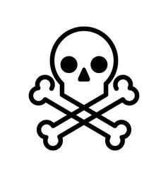 Skull and bones icon vector