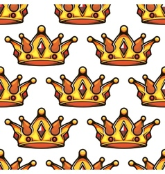 Cartoon emperor crowns seamless pattern vector