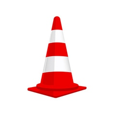 Red traffic cone vector