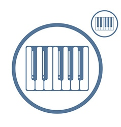 Piano keyboard icon isolated vector