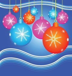 Christmas background with decorate ball vector