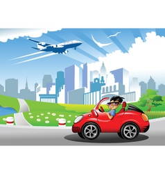 City drive vector