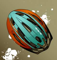 Bicycle helmet vector