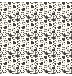 Heart shape seamless pattern vector