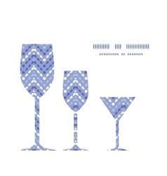 Purple drops chevron three wine glasses vector