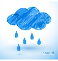 Rainy cloud vector