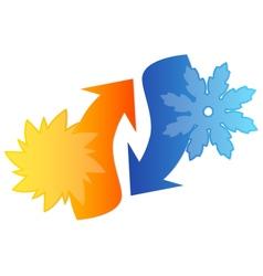 Air conditioning emblem vector